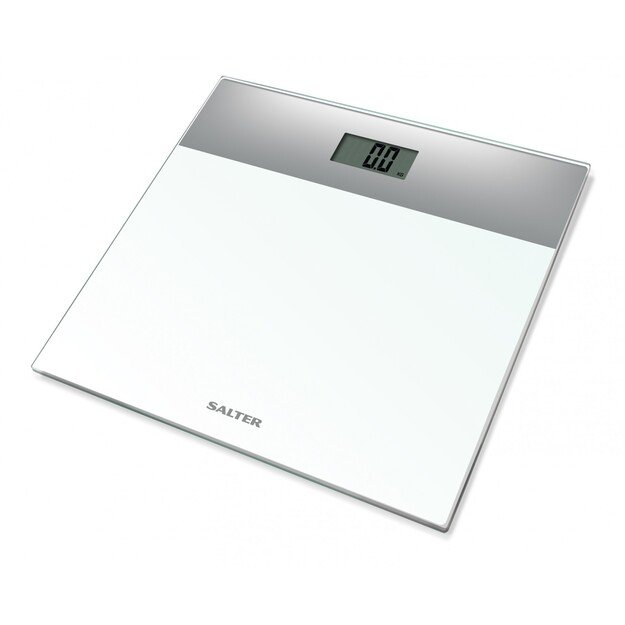 Salter 9206 SVWH3R Glass Electronic Scale Silver/White